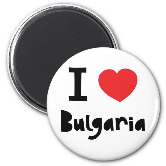 I love Bulgaria 6 Cm Round Magnet