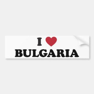 I Love Bulgaria Bumper Sticker