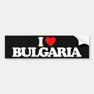 I LOVE BULGARIA CAR BUMPER STICKER