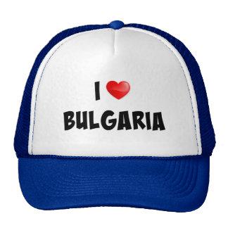 """""""I Love Bulgaria"""" custom design Cap"""