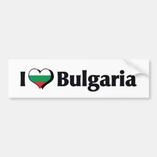 I Love Bulgaria Flag Bumper Sticker