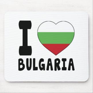 I Love Bulgaria Mouse Pads