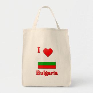 I Love Bulgaria Grocery Tote Bag