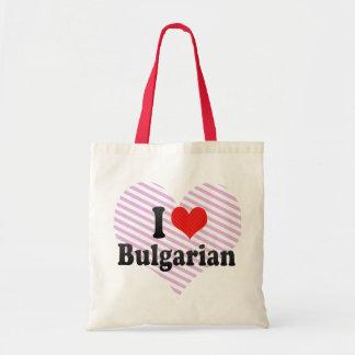 I Love Bulgarian Tote Bags