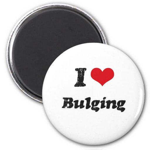I Love BULGING Fridge Magnet