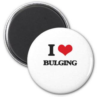 I Love Bulging Refrigerator Magnets