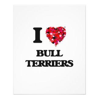 I love Bull Terriers 11.5 Cm X 14 Cm Flyer