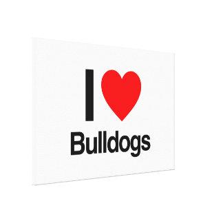 i love bulldogs gallery wrap canvas