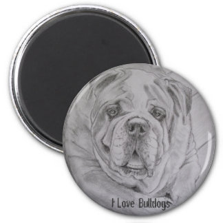 I Love Bulldogs Magnet