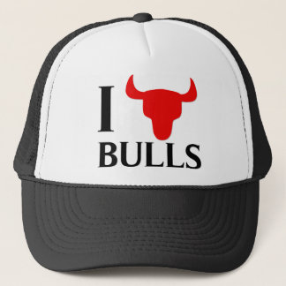 I Love Bulls Trucker Hat