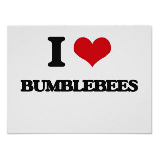 I Love Bumblebees Posters