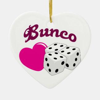 I Love Bunco Christmas Ornament