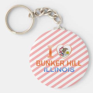 I Love Bunker Hill, IL Keychain