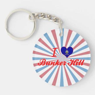 I Love Bunker Hill Kansas Keychain