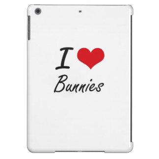 I Love Bunnies Artistic Design iPad Air Cover
