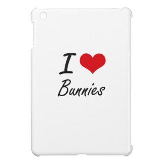 I Love Bunnies Artistic Design iPad Mini Cover