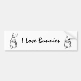 I Love Bunnies (customizable) Bumper Sticker