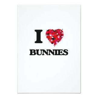 I Love Bunnies 13 Cm X 18 Cm Invitation Card