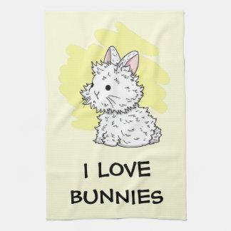 I love bunnies kitchen towel - Yellow
