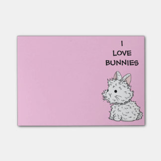 I love bunnies Post-its - Colour of your choice Post-it Notes