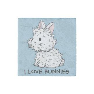 I love bunnies Stone Magnet