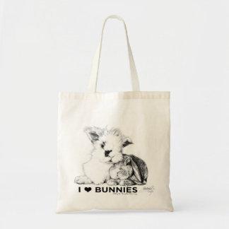 I Love Bunnies Tote Bag