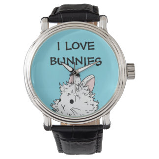 I love bunnies watch - Colour of your choice