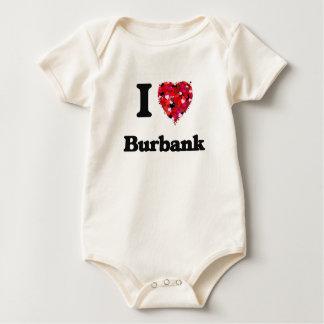 I love Burbank California Baby Bodysuits