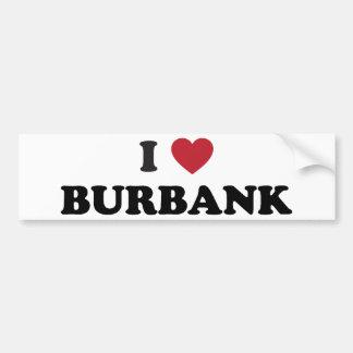 I Love Burbank California Bumper Sticker