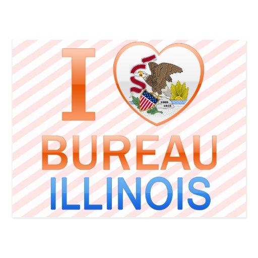 I Love Bureau, IL Post Card