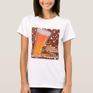 I Love Burgers and Beer Brewskies T-Shirt