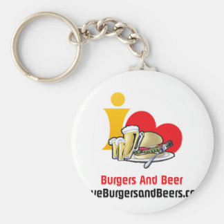 I Love Burgers and Beer Burgers Key Chain