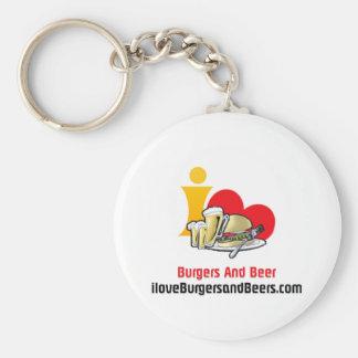 I Love Burgers and Beer Burgers Keychain