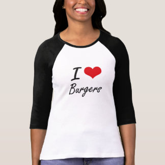 I Love Burgers artistic design T-Shirt