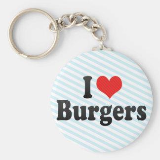 I Love Burgers Keychain