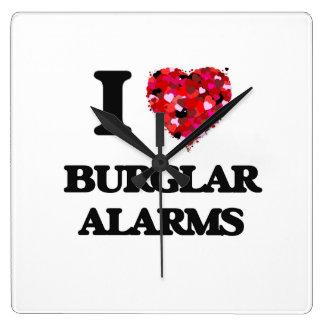 I Love Burglar Alarms Clocks