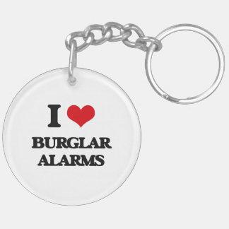 I Love Burglar Alarms Acrylic Keychain