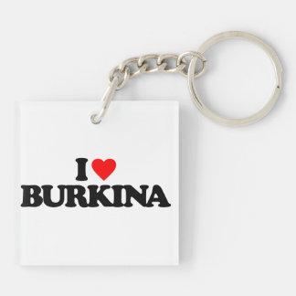 I LOVE BURKINA KEY RING