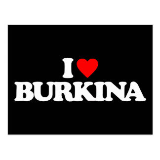 I LOVE BURKINA POSTCARD