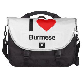 i love burmese laptop bag