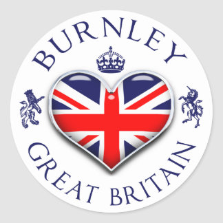 I Love Burnley Classic Round Sticker