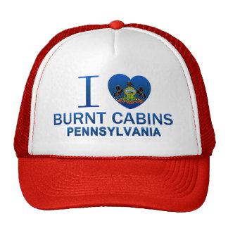 I Love Burnt Cabins, PA Trucker Hats