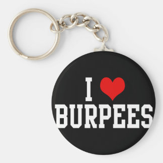 I Love Burpees, Fitness Basic Round Button Key Ring