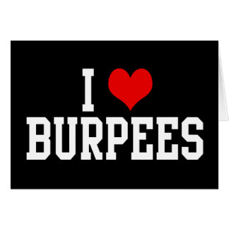 I Love Burpees, Fitness Greeting Card