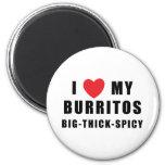 I Love Burritos 6 Cm Round Magnet