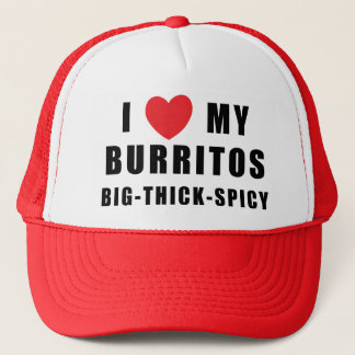 I Love Burritos Trucker Hat