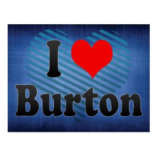 I Love Burton, United States Postcard