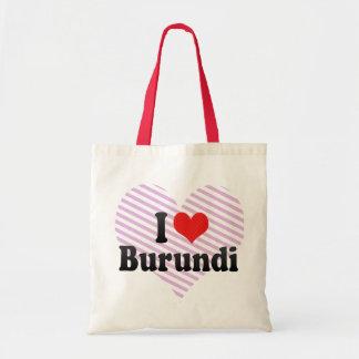 I Love Burundi Budget Tote Bag