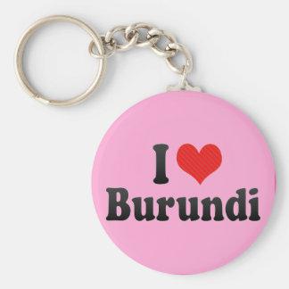 I Love Burundi Basic Round Button Key Ring