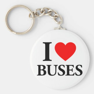 I Love Buses Key Ring
